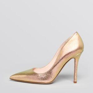 Kate Spade Gold Licorice Heels. Size 8.